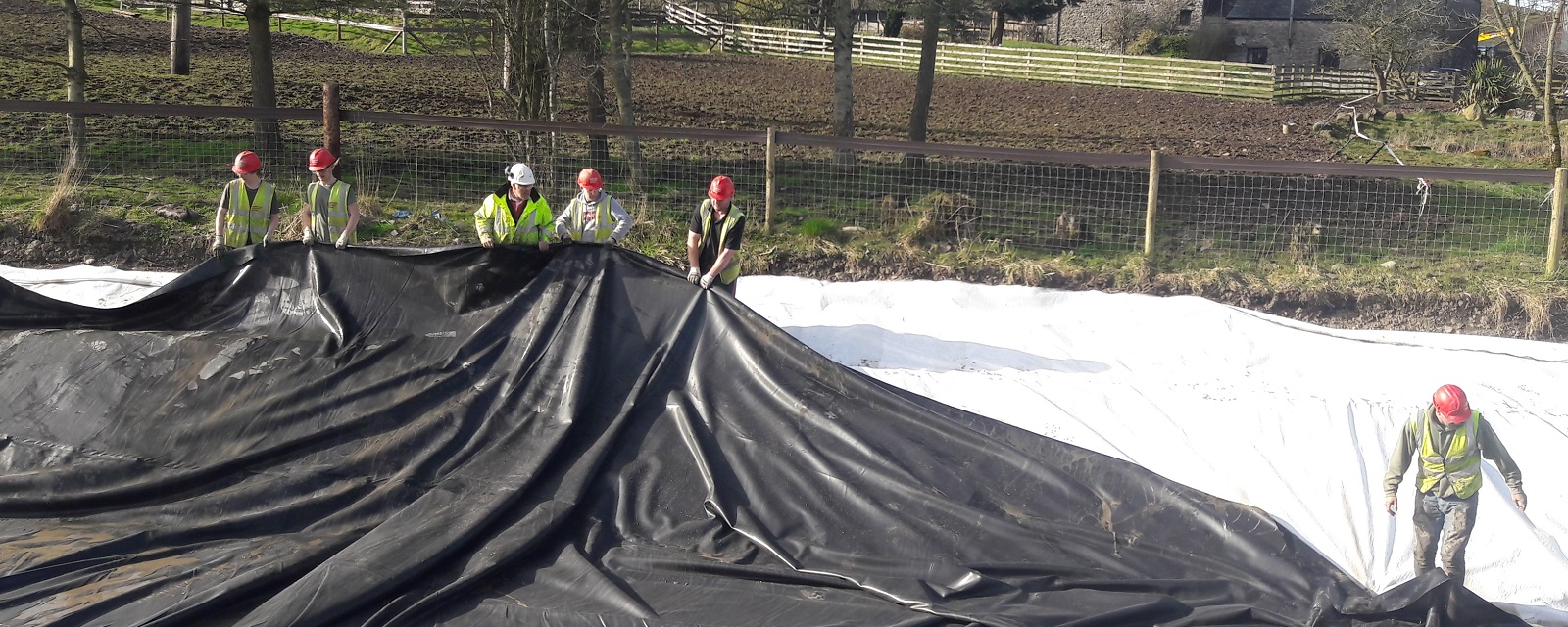 Commercial pond and lake liners