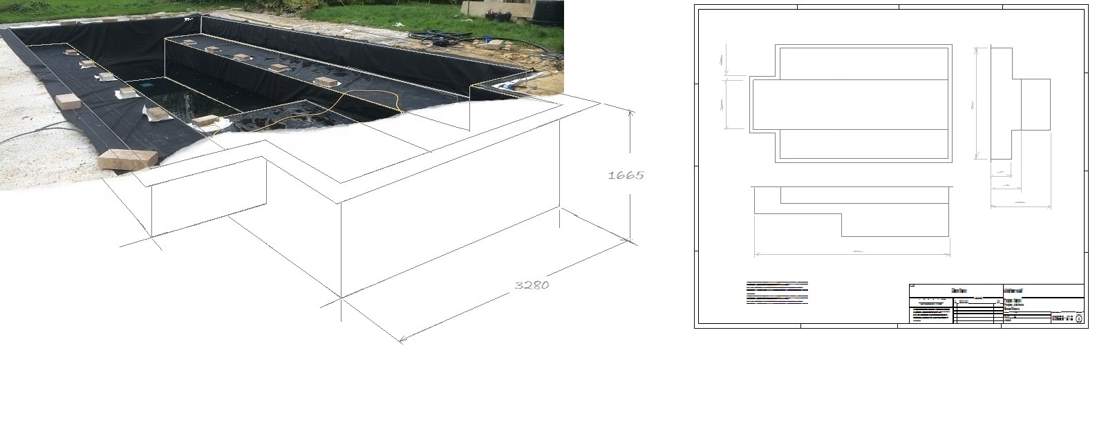 Box-welded Formal Pond Liners