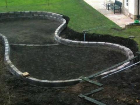 Bali 2012 award winning show garden for Garden pond liners uk